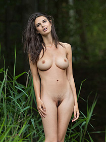 Busty Jasmine Is Nude By The Lake